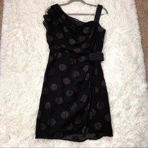 Nanette Lepore Polka Dot Sparkle Glitter Dress